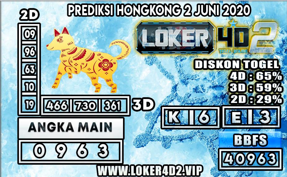 PREDIKSI TOGEL HONGKONG LOKER4D2 2 JUNI 2020
