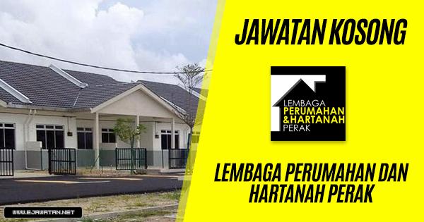 jawatan kosong Lembaga Perumahan dan Hartanah Perak 2019