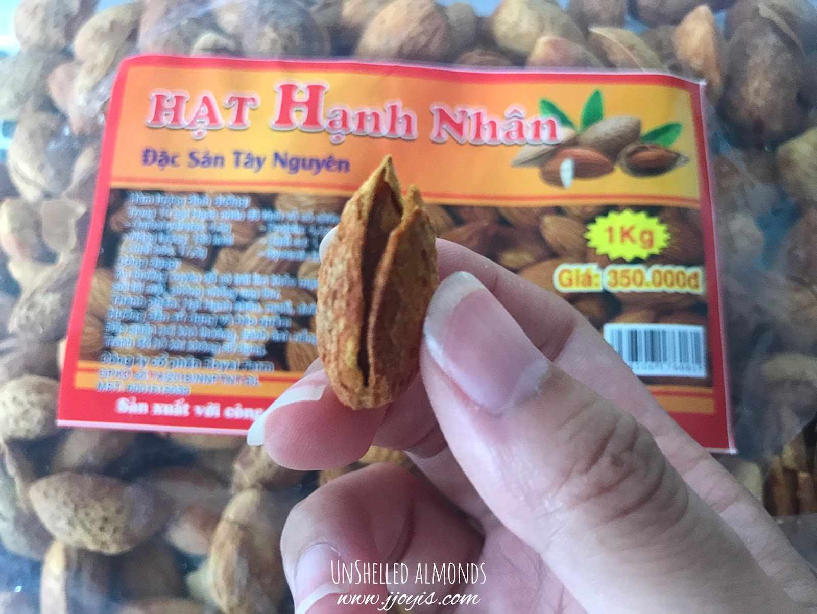 hanoi vietnam must buy shelled almond nuts dong xuan market review gift souvenir