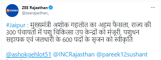 Rajasthan New Vacancy 2021