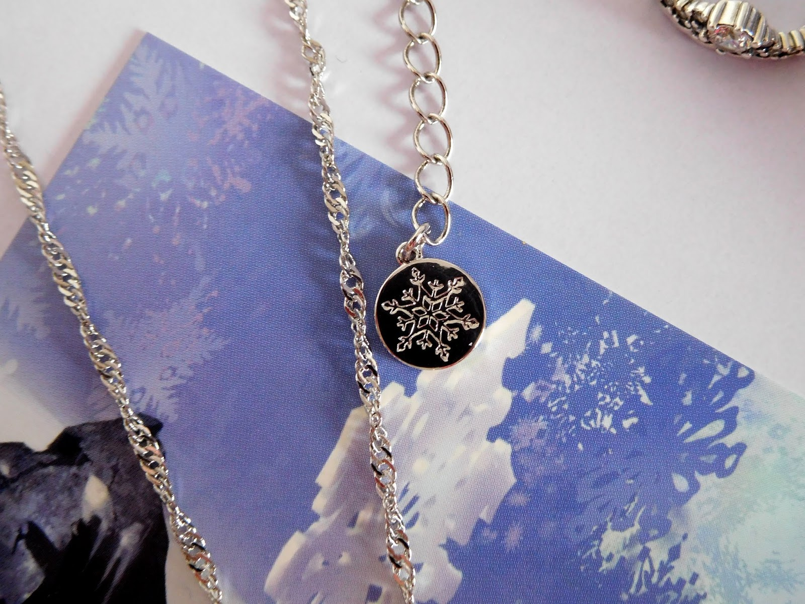 Disney Couture Kingdom Frozen II White Gold-Plated Elsa Ice Crystal Necklace