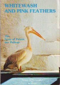 okładka ksiązki na której widniej biały ptak z długim dziobem Petros Pelikan