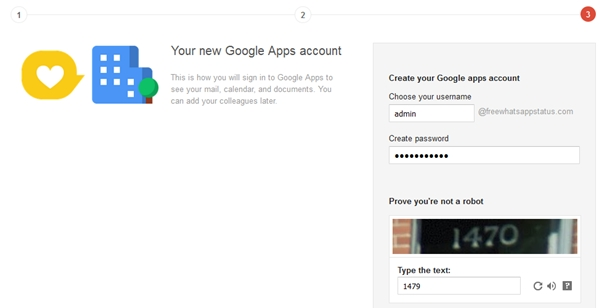 new google apps account