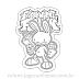 Friday Night Funkin pico bunny mod para Colorir