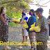 Michaela Elsiana Paruntu Bersama Suami Bagi Sembako Gratis ke Warga Tawaang