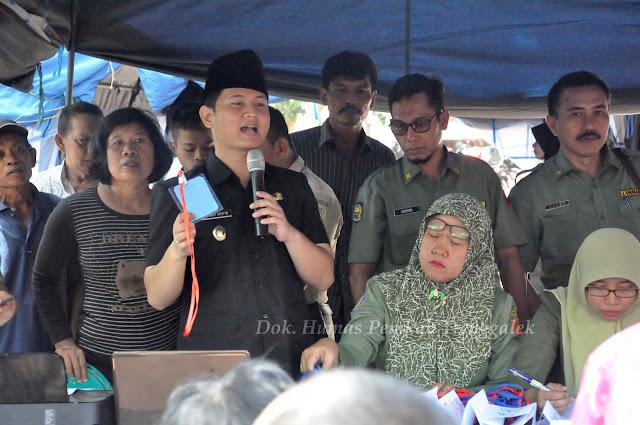 Wabup Arifin Pandu Langsung Undian Lapak Relokasi Untuk Pedagang Pasar Pon