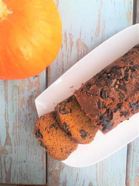 Ciasto dyniowe z czekoladą przepis Pumpkin Bread
