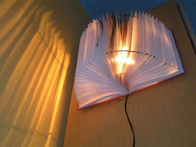 Boog Lamp Mukwonago Community Library Blog: Diy Projects Made From Books