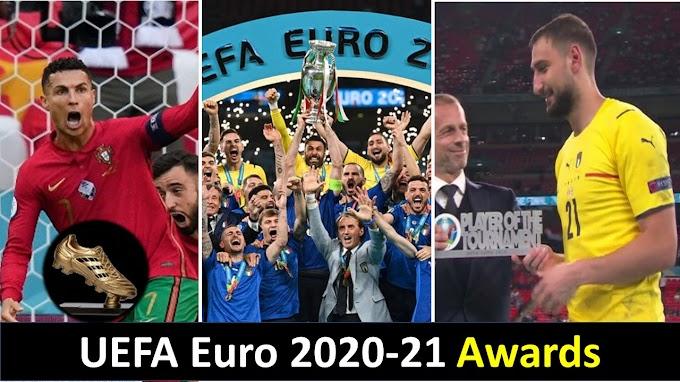 Euro 2020 (2021) Awards: Full List of Award Winners, Golden Ball, Golden Boot, Prize Money