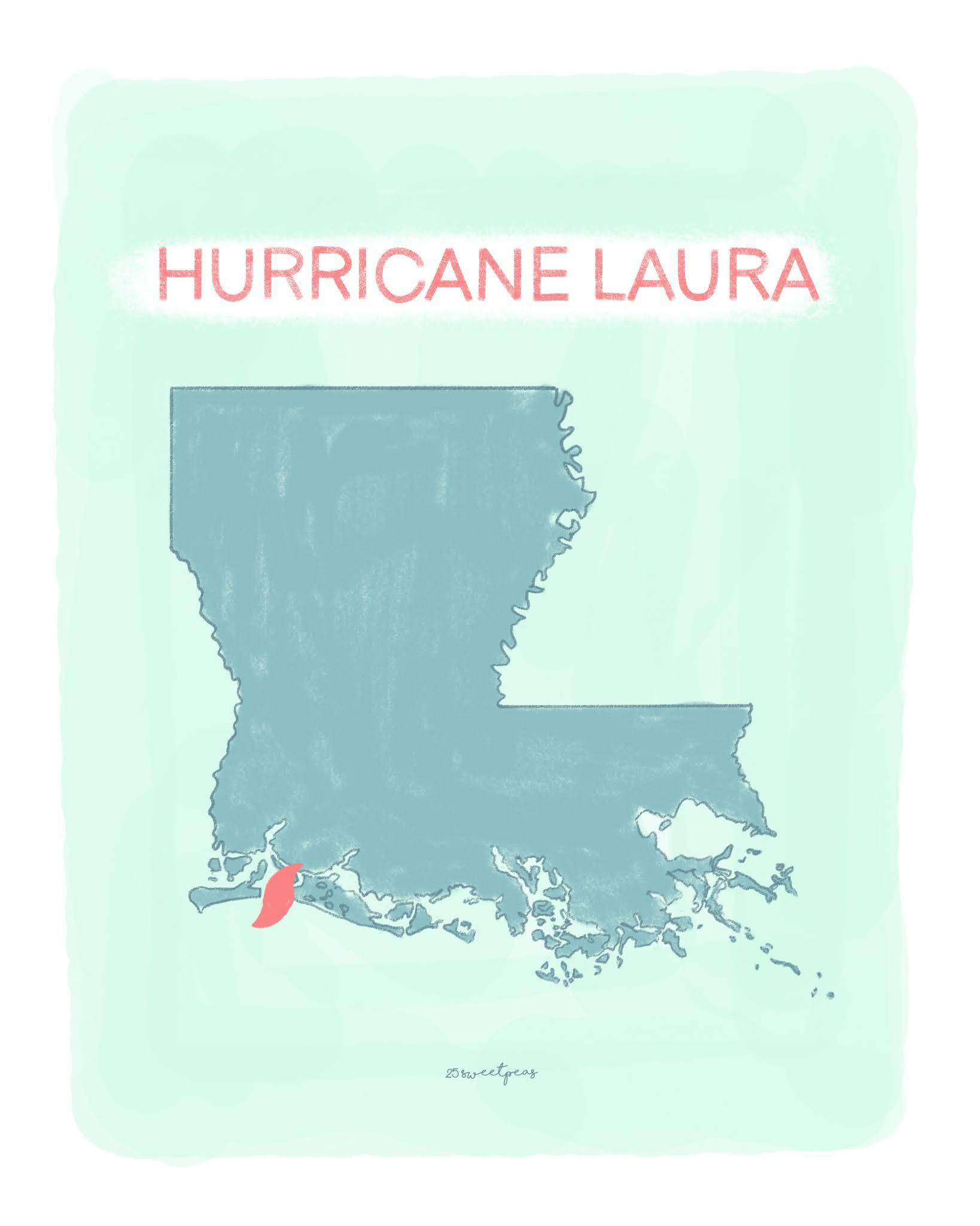 Hurricane Laura 25 Sweetpeas