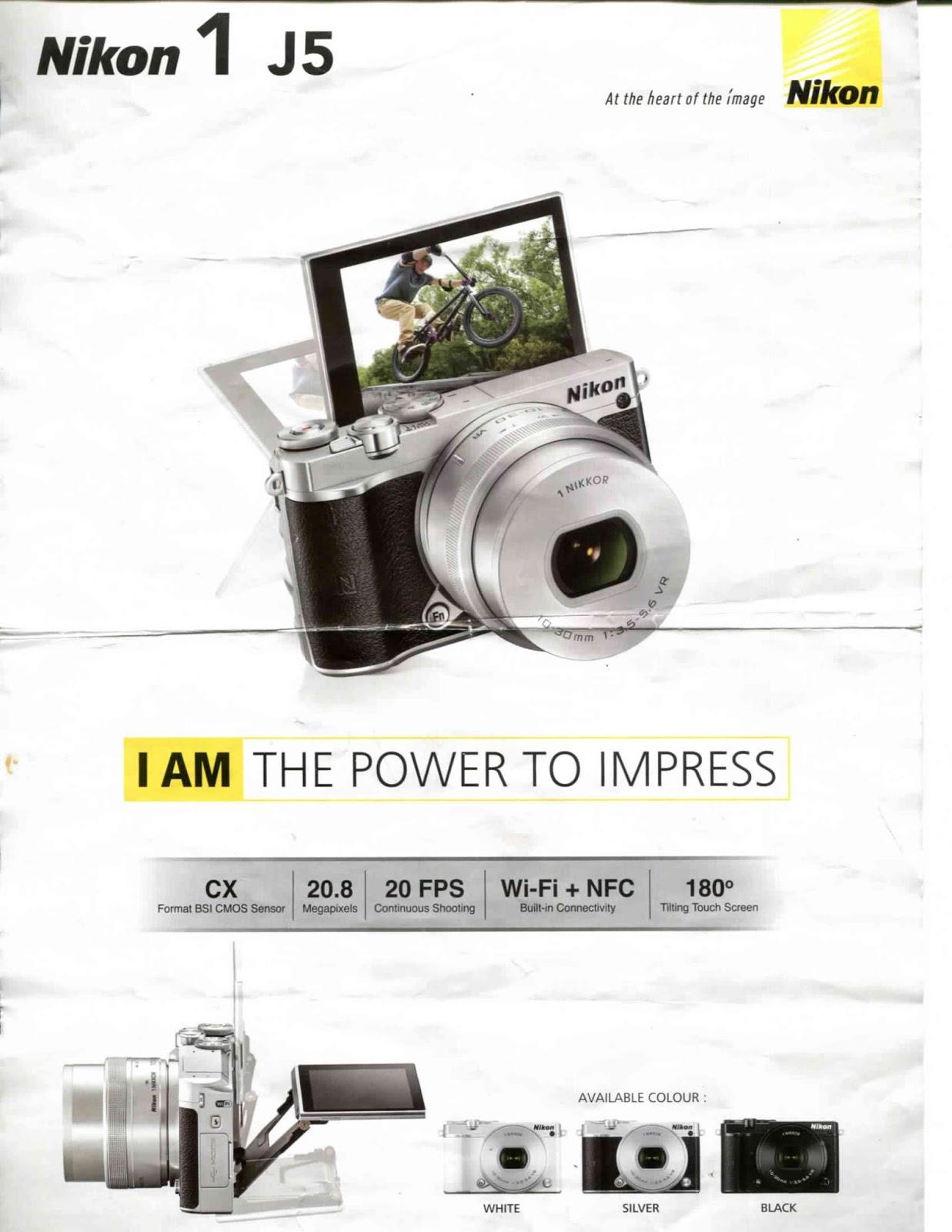 Review Kamera Mirrorless Nikon 1 J5 Mochinesu Kit 10 30mm Paket Spesifikasi