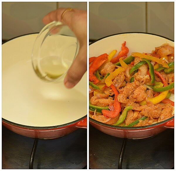 how to make mexican chicken fajitas at home