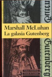 Portada del libro 'La galaxia Guternberg' en la que se ve un grabado de Gutenberg