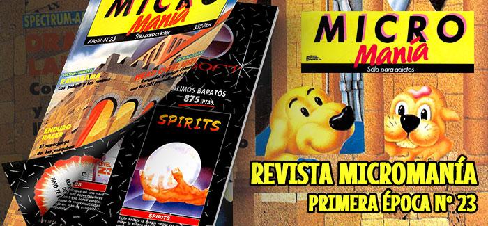 Revista Micromanía Primera época Nº 23 (1987)
