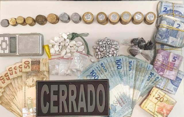 CIPE Cerrado prende indivíduo com drogas num bar em Roda Velha