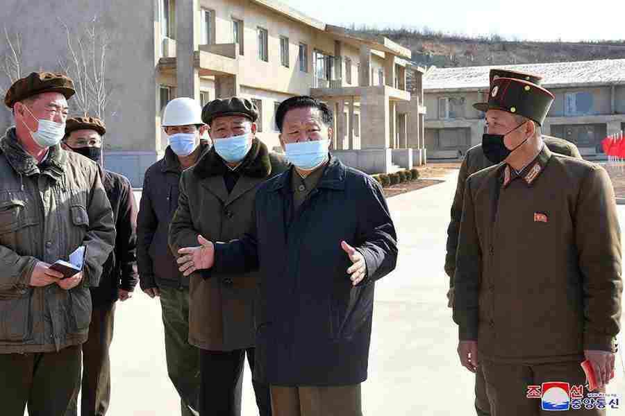 Choe Ryong Hae Inspects Kwangchon Chicken Farm under Construction