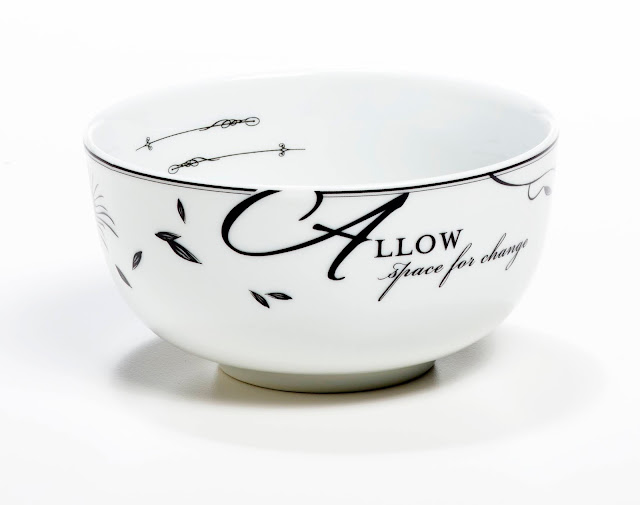 "Livliga ""Allow Room For Change"" Celebrate Portion Control Bowl"