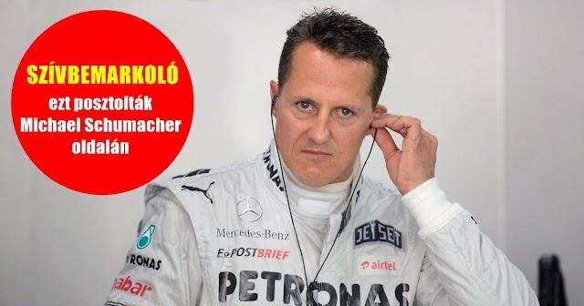 Szívbemarkoló, ezt posztolták Michael Schumacher oldalán