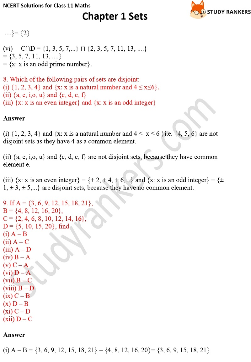 NCERT Solutions for Class 11 Maths Chapter 1 Sets 13