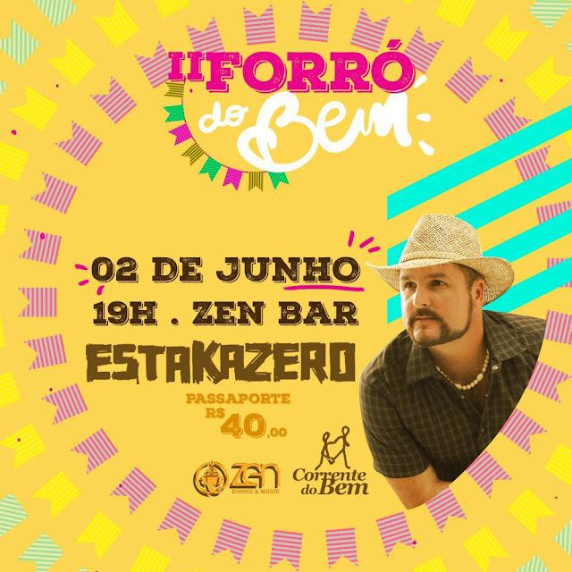 Imagem do Cartaz  do evento que acontece nesta quinta-feira, dia 2 de junho, a partir das 19 horas, no Zen Dining' & Music, Rio Vermelho.