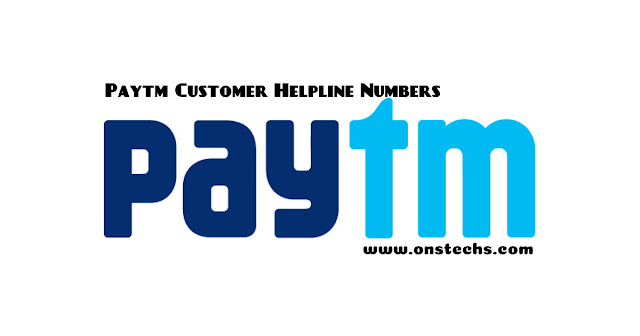 Paytm Customer Helpline Numbers