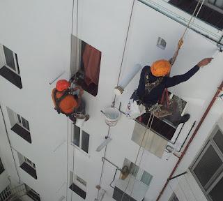 Trabajos verticales: restauración de fachadas