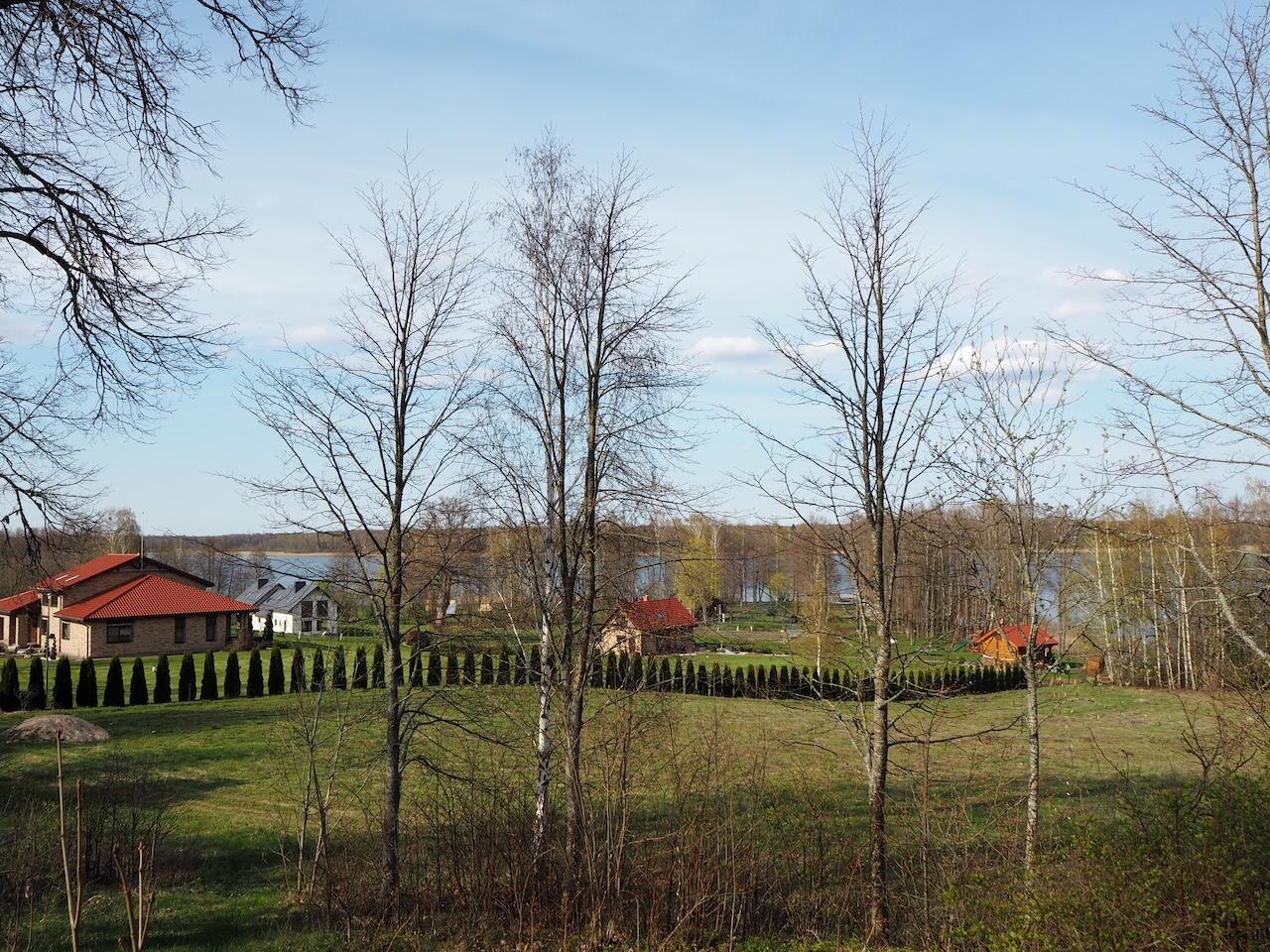 Vaizdas nuo Bukaučiškių koplyčios į ežerą