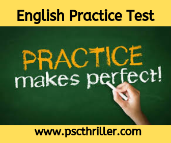 PSC English Test Series 187 - UP Assistant 2016