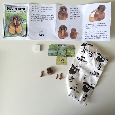 Components and instructions for a one-twelfth scale Kevin Kiwi 'A New Zealand cuddly toy'