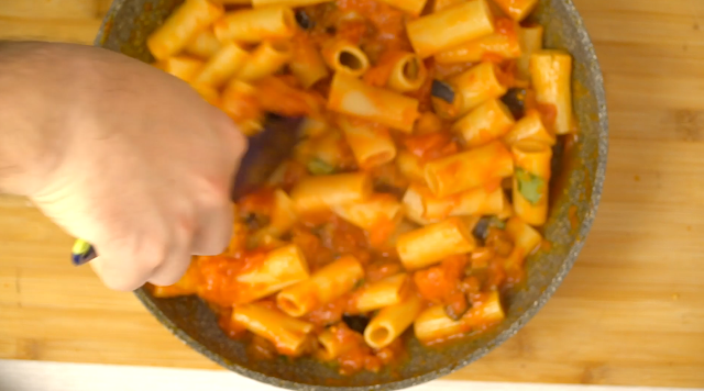 rigatoni with norma sauce