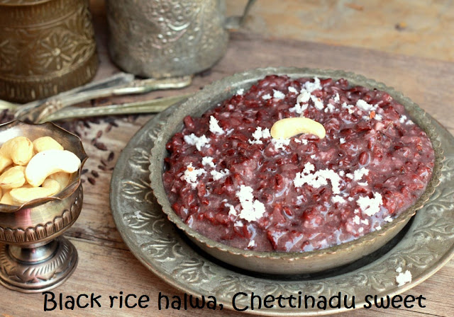 Black rice halwa, Chettinadu sweet