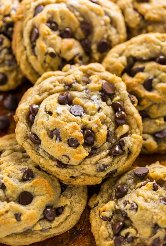 Thick and chewy vegan chocolate chip cookies. These are wonderful!