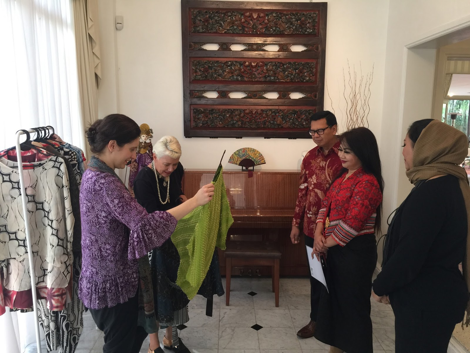 Lydia Pearson and Carla Van Lunn were impressed with the quality of Batik Chic s apparels