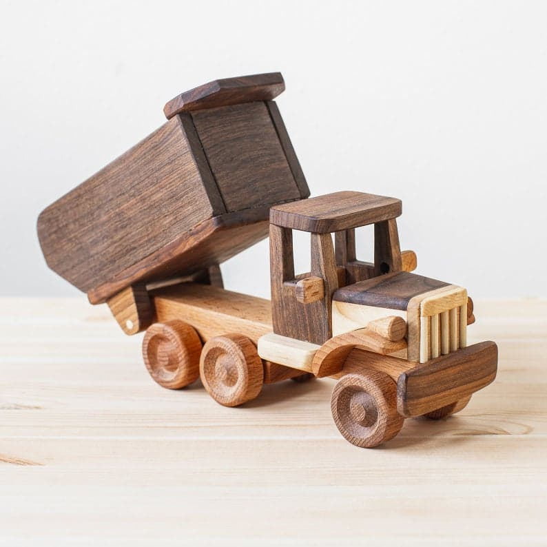 the kind wood pecker handmade wooden truck