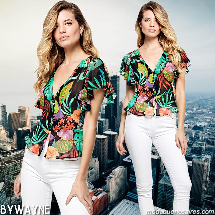 Blusas de moda primavera verano 2020. Pantalones de mujer blancos primavera verano 2020.