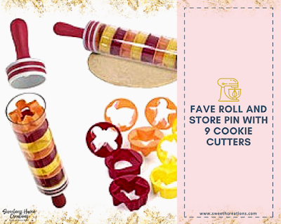 You should get: The Roll and Store Pin with 9 Cookie Cutters (RM25 FAVE)