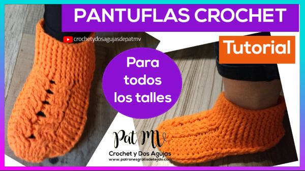 como-tejer-pantuflas-crochet