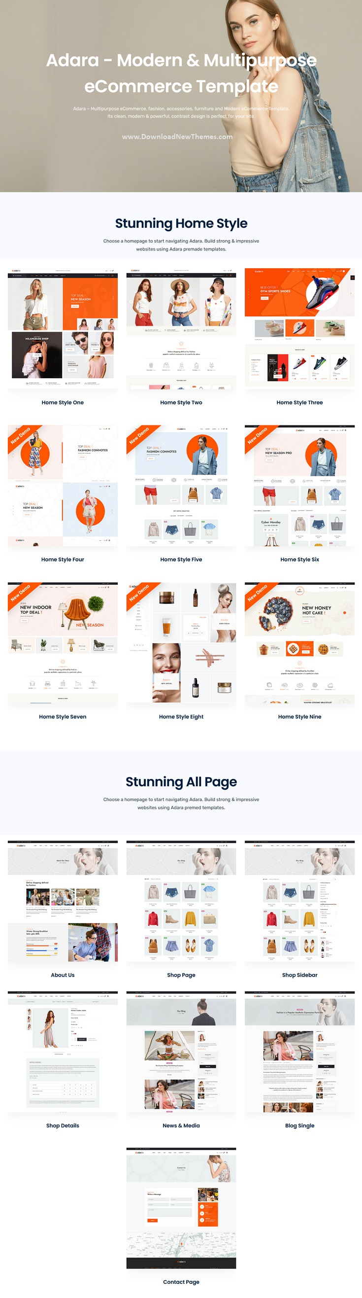 Modern and Multipurpose eCommerce Template