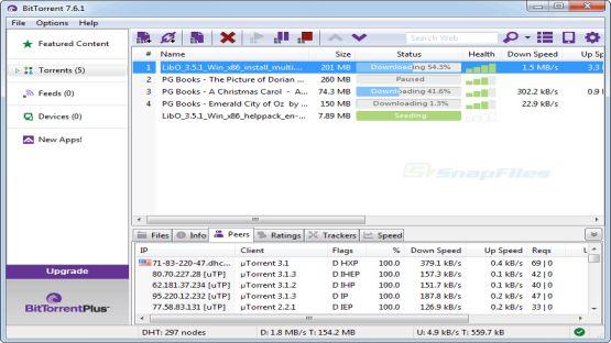 BitTorrent screenshot 2