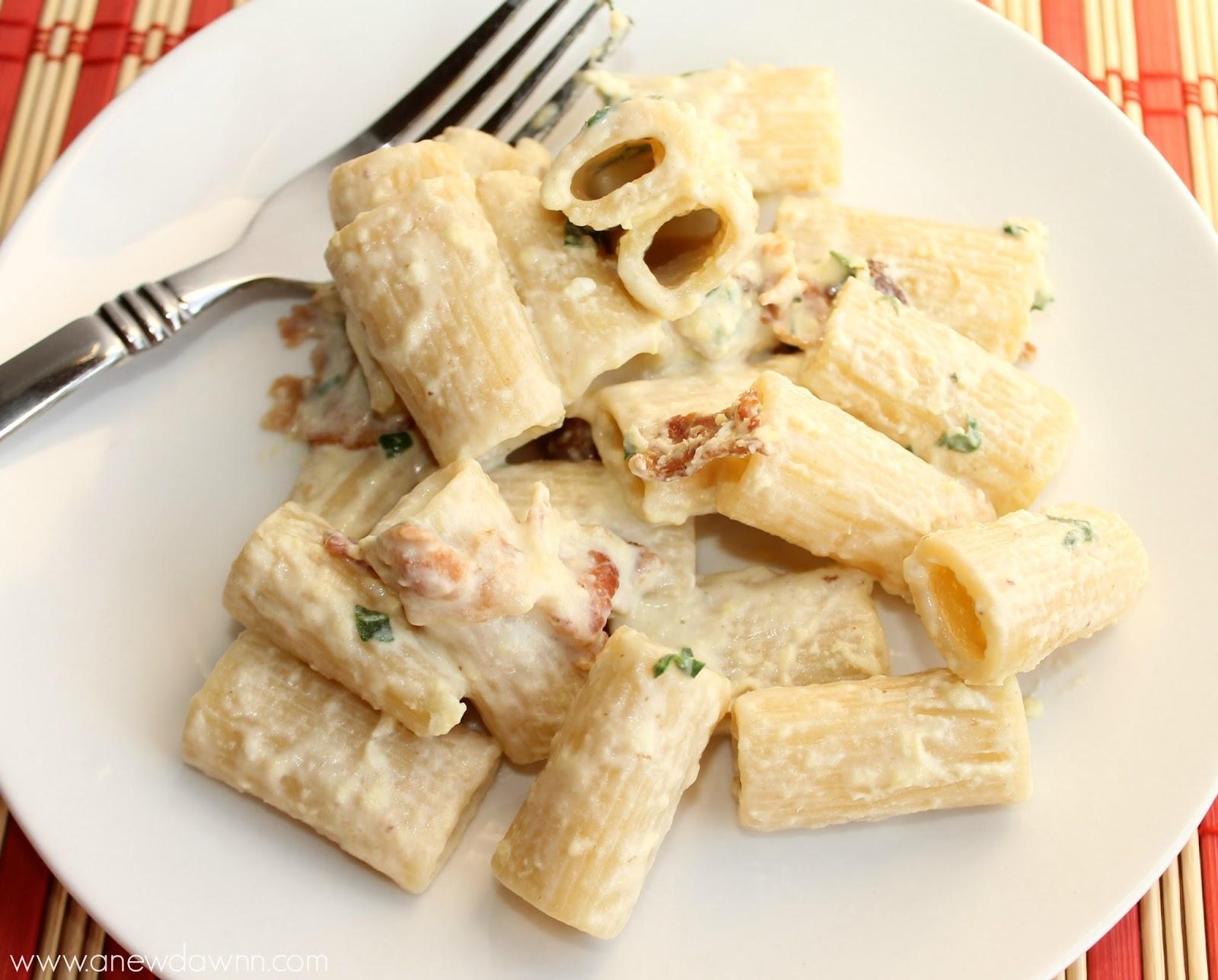 Spinach Pasta Carbonara
