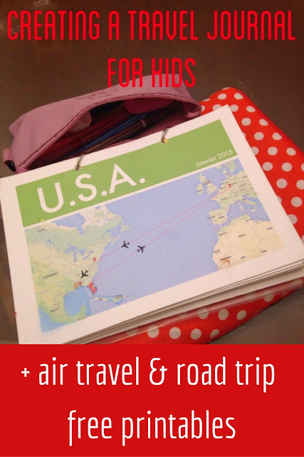 Creating a travel journal for kids: instructions and free printables