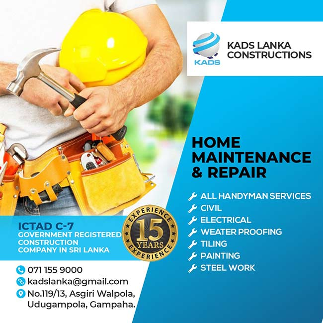 KADS LANKA Constructions - Home Maintenance and Repair.