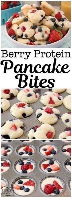 Berry Protein Pancake Bites Recipe