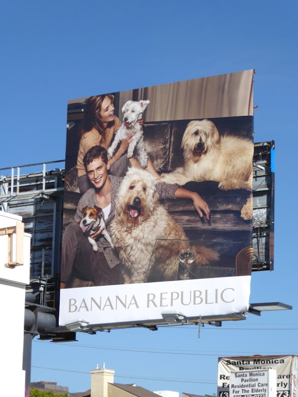 Banana Republic FW16 dogs billboard