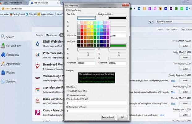 cara memilih warna web pada add ons firefox
