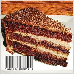 torta de sorvete com chocolate ao rum