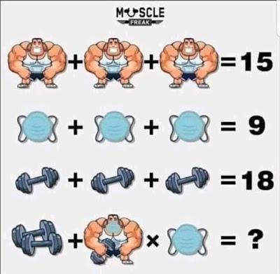 Muscle Freak Mask Dumbbell Puzzle