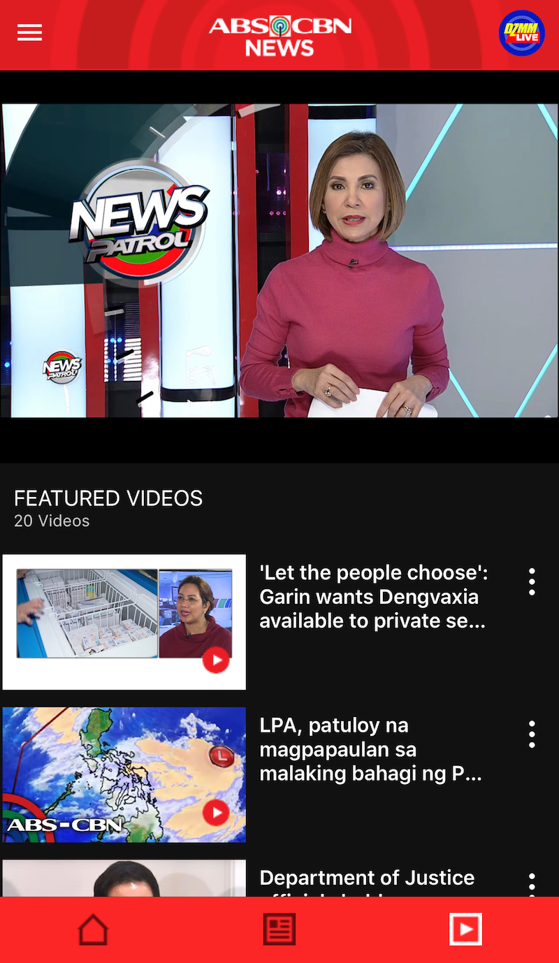 You can opt for a video feed if you want to get the news by watching videos