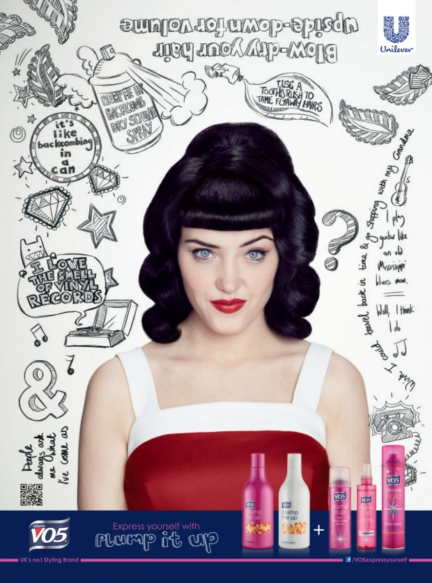 ", VO5 Hair Challenge- Using ""Plump it Up"" to create a retro Pin Curls Hair Style #cbias #shop"