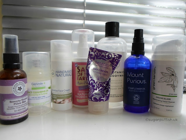 Sugarpuffish's Natural and Organic Skincare August Empties Blogger Reviews